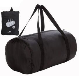 folded sport bag with waterproof black