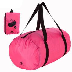 folded sport bag with waterproof red