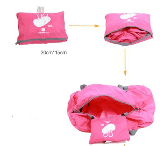 folded sport bag with waterproof folding
